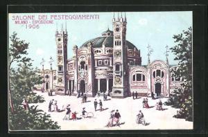AK Milano, Esposizione 1906, Salone dei Festeggiamenti, Ausstellung