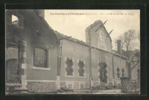 AK Ay, Révolution en Champagne Avril 1911, La Maison de MM. de Ayala