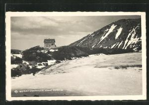 AK Belmeken-Hütte, Blick zur Berghütte