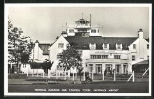 AK Prestwick, Terminal Building and Cotrol Tower on Airport