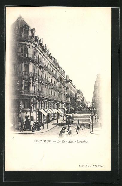 AK Toulouse, La Rue Alsace-Lorraine 0