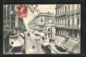 AK Toulouse, La Rue Alsace-Lorraine, Carrefour de la Pomme, Pferdebahn