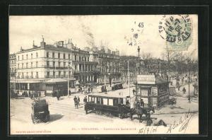 AK Toulouse, Carrefour Lafayette, Pferdebahn