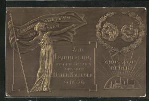 Präge-AK Berlin, Deutscher Werkmeister Verband, Zur Erinnerung an den Besuch unserer Österr. Kollegen 1906