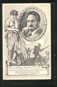 AK Gedenken an Dr. Ludwig Frank, M.d.R., gefallen in der Schalcht bei Lunéville