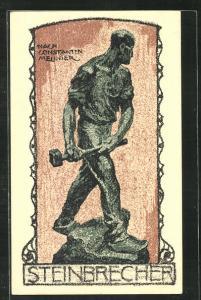 AK Statue Der Steinbrecher