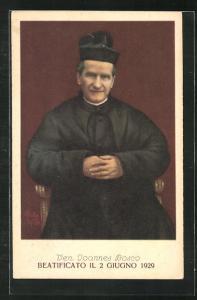 AK Portrait Beatificato Il 2 Giugno 1929, Ven. Joannes Bosco