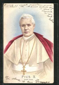 AK Portrait Papst Pius X.