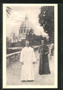 AK Papst Pius XI. nei giardini vaticani
