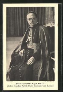 AK Papst Pius XI., Erzbischof von Mailand