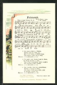 Lied-AK Anton Günther Nr.38: Feieromd