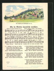 Lied-AK Anton Günther Nr. 30: Wu de Walder haamlich rauschen