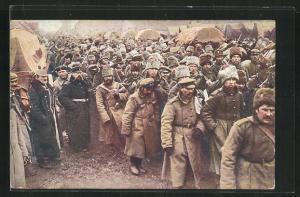 AK Abtransport russischer Kriegsgefangener