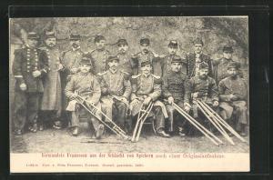 AK Verwundete französische Kriegsgefangene aus der Schlacht von Spichern
