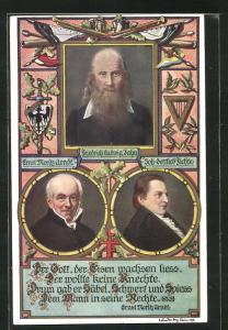 AK Friedrich Ludwig Jahn, Ernst Moritz Arndt, Joh. Gottlieb Fichte