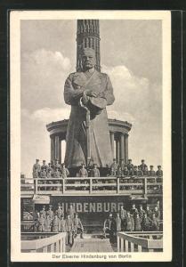 AK Kriegshilfe, der Eiserne Hindenburg von Berlin