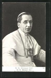 AK Papst S. S. Benoit XV. im Portrait