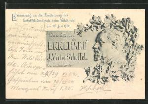 AK Wildkirchli, Erinnerung an die Einweihung des Scheffel-Denkmals 1902