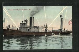 AK Baltimore, Md., Fireboat Deluge, Feuerlöschboot
