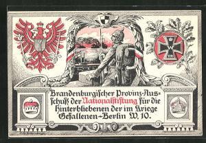 AK Berlin, Brandenburgischer Provinz-Ausschuss der Nationalstiftung für die Hinterbliebenen der im Kriege Gefallenen