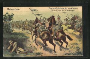 AK Maubeuge, Erste Niederlage der englischen Kavallerie, Feldskizze