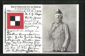 AK General-Feldmarschall Graf von Waldersee, internationaler Oberfeldherr in China