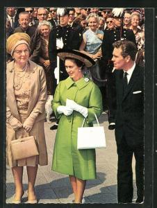 AK Besuch der Prinzessin Margareth von England in Amsterdam