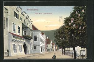 AK Mürzzuschlag, Hotel Post an der Wienerstrasse