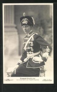 AK Victoria Louise Herzogin von Braunschweig in der Uniform ihres II. Leib-Husaren-Regiments