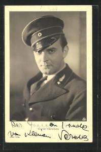 AK Schauspieler Ernst Verebes in Uniform