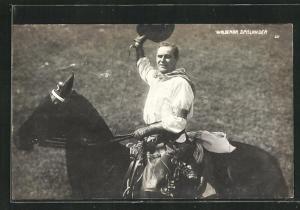AK Schauspieler Waldemar Spislander als Cowboy in einem Western