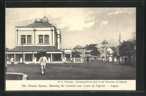 AK Lagos, The Tinubu Square, showing the Central Law Court of Nigeria