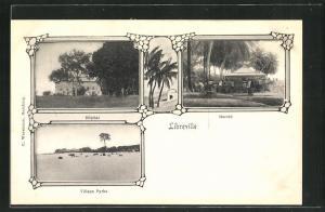 AK Libreville, Marché, Hopital, Village Pyrha