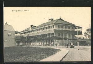 AK Beira, Strassenpartie am Savoy Hotel