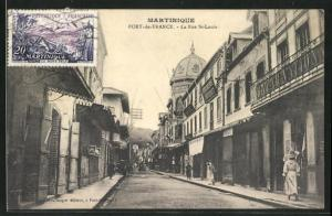 AK Fort-de-France, La Rue St-Louis
