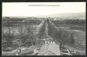 AK Alexandrette, Fernblick auf die Ortschaft