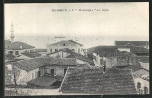 AK Mersina, L`Orénoque en rade, Teilansicht mit Hafen
