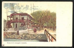 Lithographie Ismailia, Bureau de la Compagnie