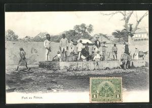 AK Port au Prince, Einheimische am Brunnen