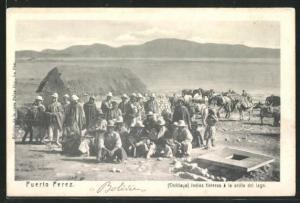 AK Puerto Perez, Indios fleteros a la orilla del Lago