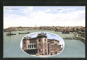 AK Belgrad, Blick auf das Volkshaus, Panoramablick auf die Stadt