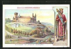 Künstler-AK Segovia, Alcazar, Alphonse XI.