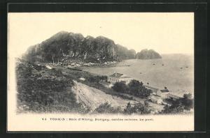 AK Hongay / Tonkin, Baie d`Along, Centre minier, Le port