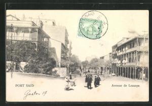 AK Port Said, Avenue de Lesseps