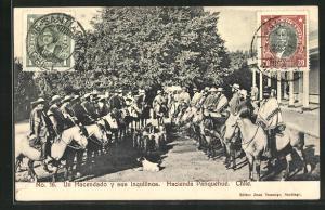 AK Panquehue, Un Hacendado y sus Inquilinos, Männer in Ponchos auf Pferden