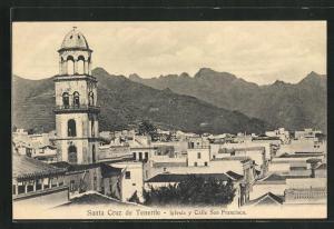 AK Santa Cruz, Tenerife, Iglesia y Calle San Francisco