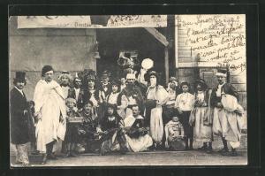 AK Sedan, Kermesse, verkleidete Männner, 25 Mai 1902