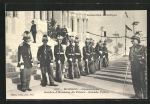 AK Monaco, Carabiniers, Gardes d`Honneur du Prince, Grande Tenue