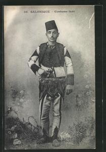 AK Salonique, Costume turc, Mann in Tracht