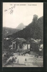 AK Rio de Janeiro, Copa Cabana, Häuser und Berge